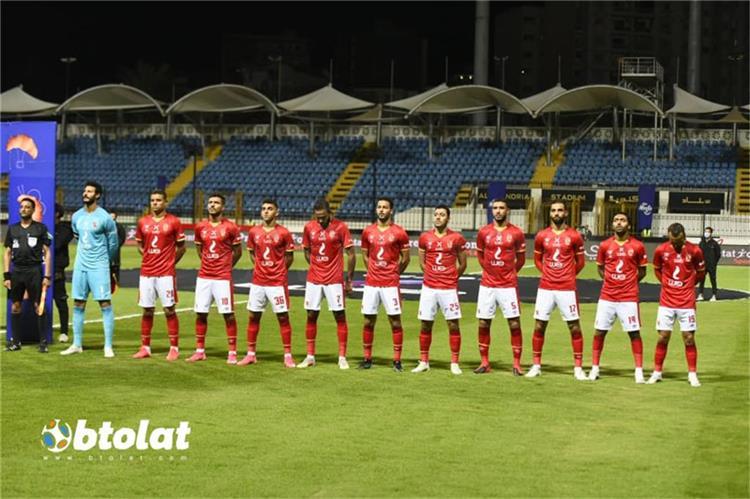 فريق الاهلي من مباراة المصري