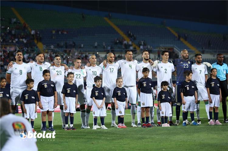 منتخب الجزائر من مباراة غينيا في كاس امم افريقيا 2019