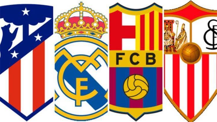إشبيلية وبرشلونة وريال مدريد وأتلتيكو مدريد