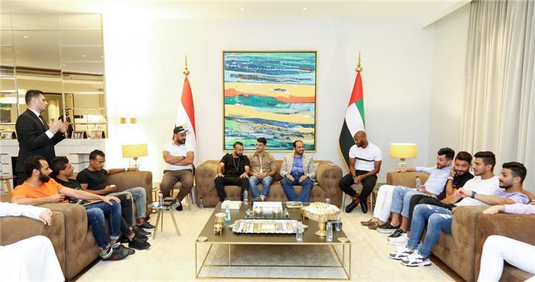 لاعبو الاهلي والزمالك في منزل سفير الإمارات في مصر