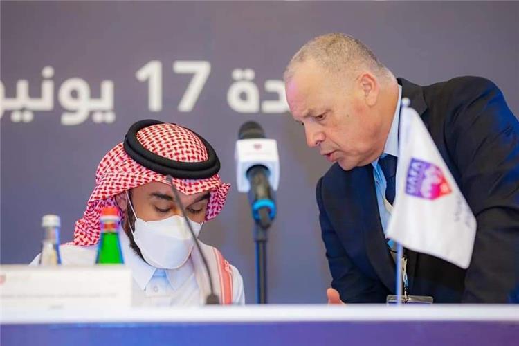 هاني أبو ريدة وعبد العزيز الفيصل