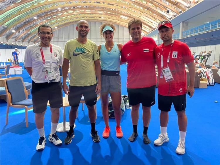 محمد صفوت وميار شريف لاعبا كرة التنس المصريين المشاركين في اولمبياد طوكيو