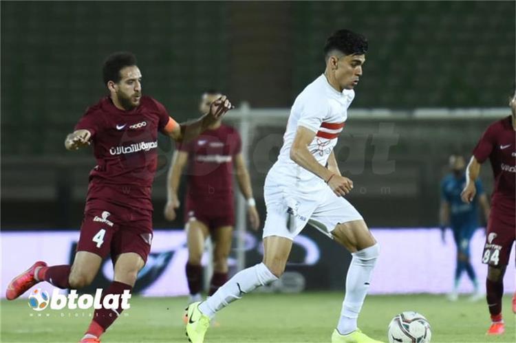 اشرف بن شرقي من مباراة الزمالك ومصر المقاصة في الدوري