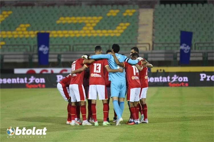 فريق الاهلي من مباراة مصر المقاصة في الدوري
