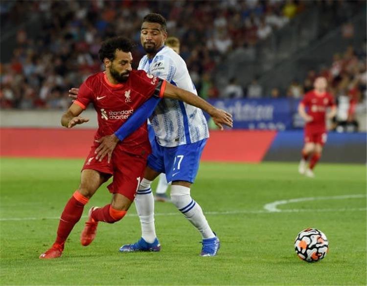 محمد صلاح من مباراة ليفربول وهيرتا برلين