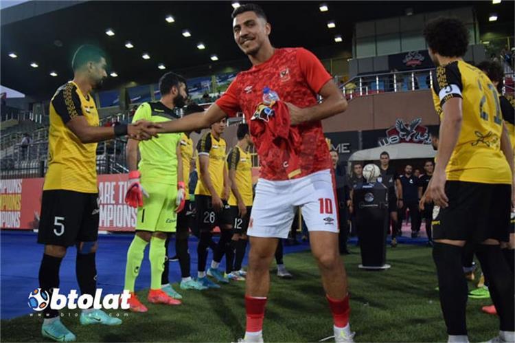 محمد شريف من مباراة الاهلي والانتاج الحربي في الدوري