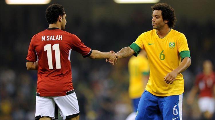 صورة أرشيفية محمد صلاح ضد البرازيل في اولمبياد لندن 2012