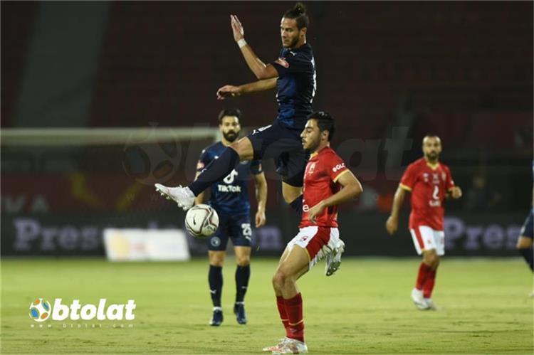رمضان صبحي من مباراة الاهلي وبيراميدز في الدوري