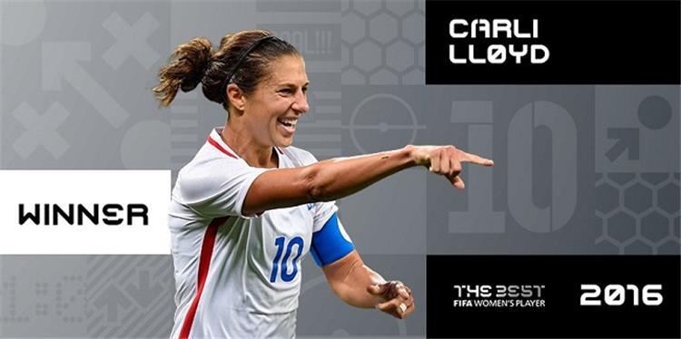 جوائز الفيفا كارلي لويد أفضل لاعبة في العالم للعام الثاني على التوالي
