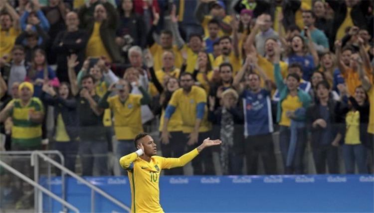 بطولات_أولمبياد نيمار التاريخي يقود البرازيل للنهائي بسداسية في هندوراس