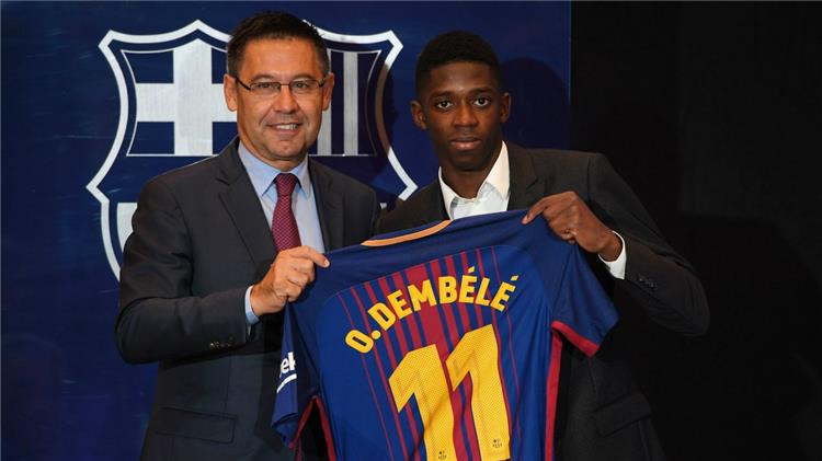 """""""دير شبيجل"""" تكشف بنود عقد ديمبيلي مع برشلونة"""