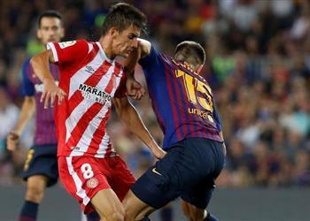 لاعب جيرونا يبرئ مدافع برشلونة من الضرب بالكوع