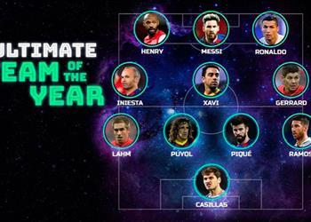 خمسة لاعبين من برشلونة ضمن التشكيل الأفضل في تاريخ أوروبا