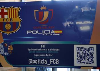 الشرطة تلقي القبض على مشجعي لبرشلونة قبل نهائي كأس ملك إسبانيا