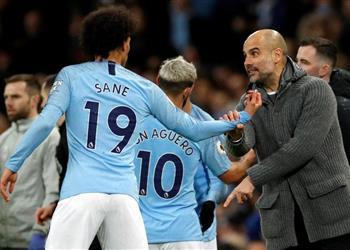 جوارديولا يثير التكهنات حول مستقبل ليروي ساني في مانشستر سيتي