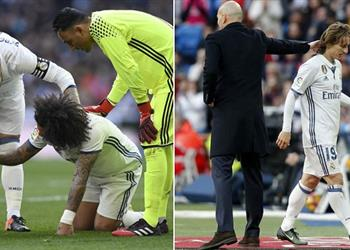 لعنة الإصابات .. تقارير: مارسيلو ومودريتش يغيبان شهرا عن ريال مدريد
