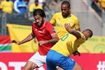 لاعب صن داونز المصاب يحفز زملاءه قبل مواجهة الأهلي في دوري أبطال إفريقيا