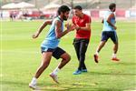 مران الأهلي| صالح جمعة يشارك في التدريبات الجماعية للفريق