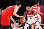 دابل سكور.. أمريكا تكتسح إيران في كرة السلة بـ أولمبياد طوكيو 2020
