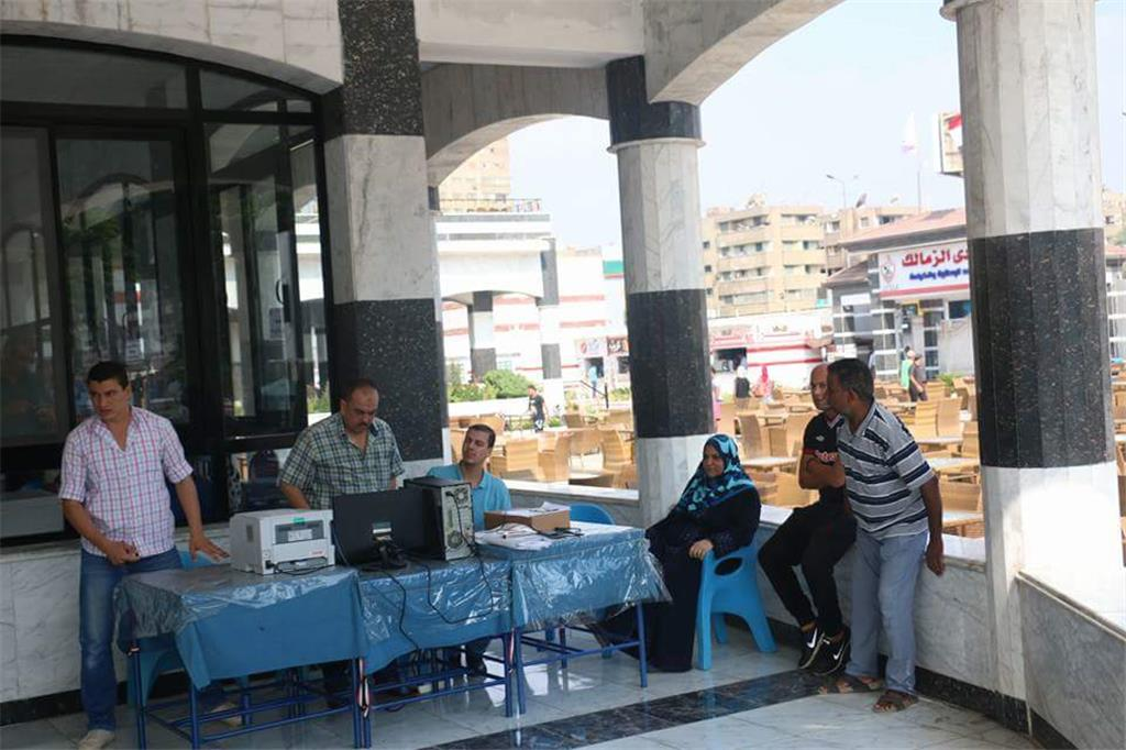جانب من افتتاح صالة الجيم