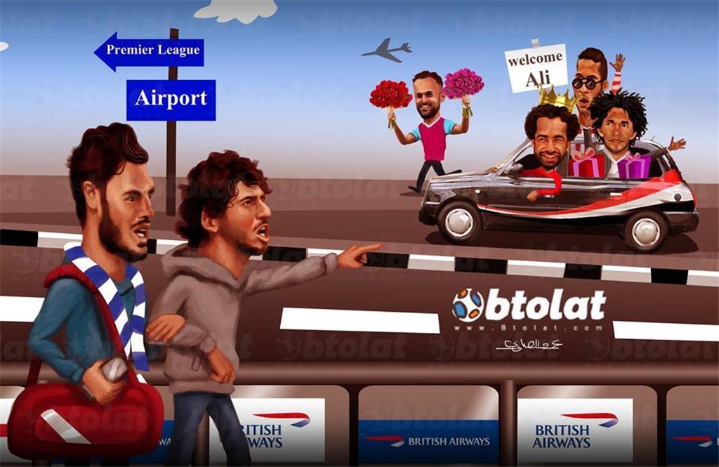 كاريكاتير انتقال علي جبر لوست بروميتش