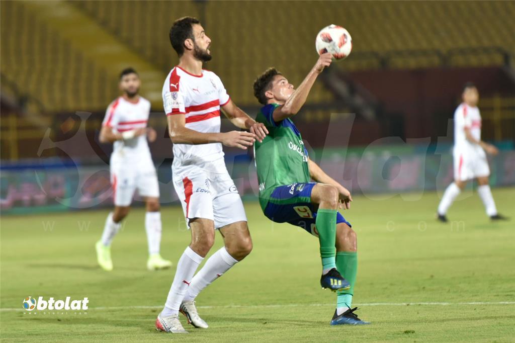جانب من مباراة الزمالك ومصر المقاصة