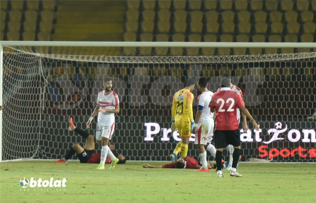جانب من مباراة الزمالك واف سي مصر
