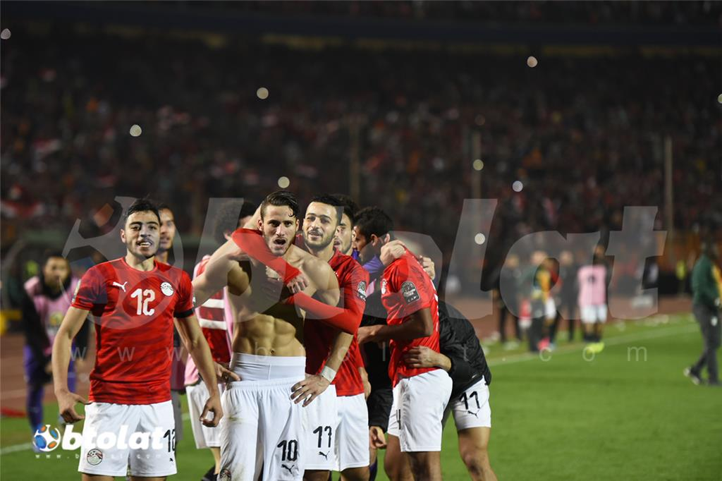 صور احتفالات لاعبي منتخب مصر بالفوز بكاس امم افريقيا تحت 23 عام