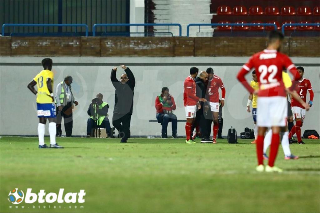 اصابة رامي ربيعة في مباراة الأهلي والإسماعيلي