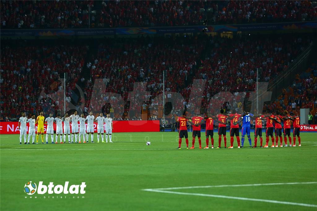 لاعبي منتخب مصر والكونغو