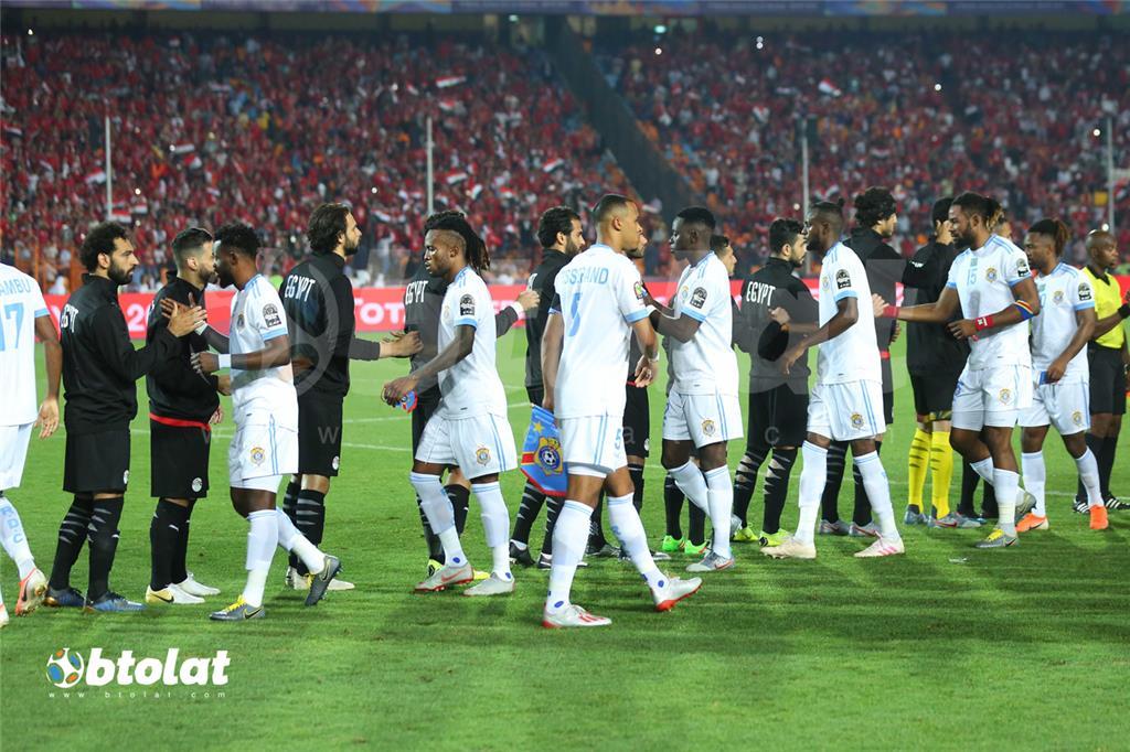 لاعبو منتخب مصر والكونغو الديمقراطية