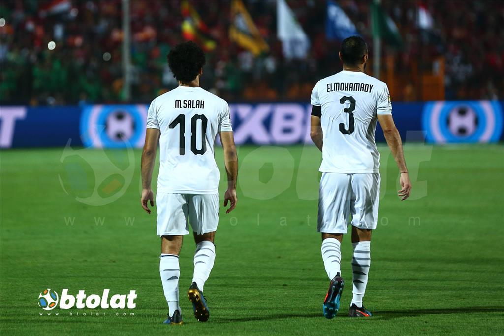 جانب من مباراة مصر واوغندا