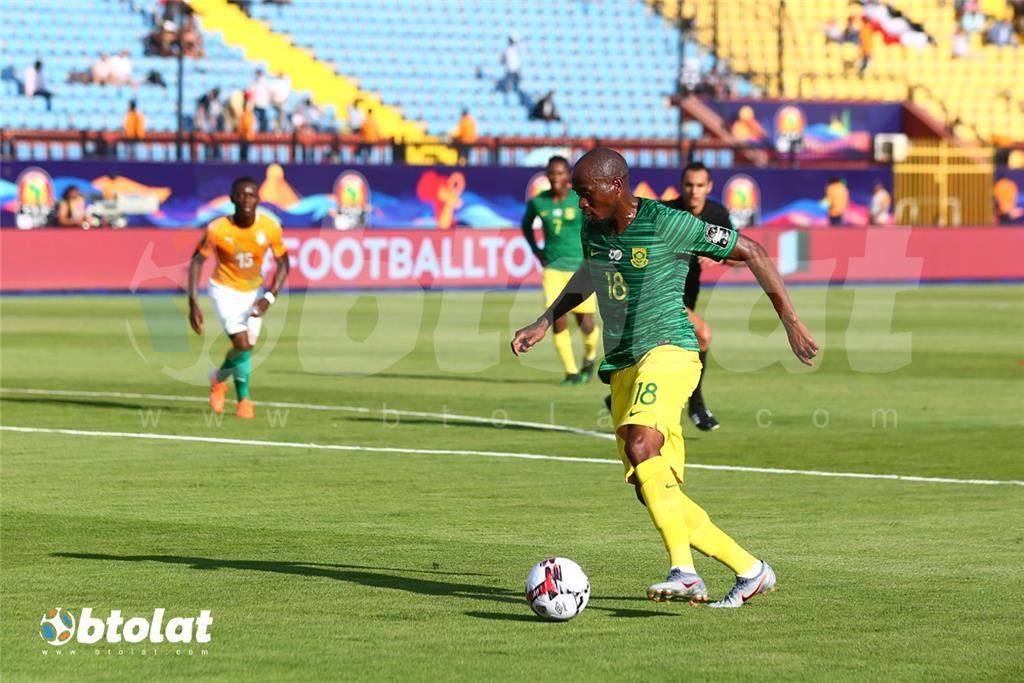 جانب من مباراة كوت ديفوار وجنوب افريقيا