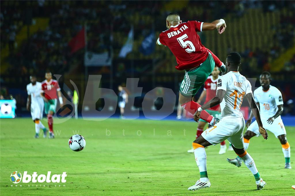 جانب من مباراة المغرب وكوت ديفوار