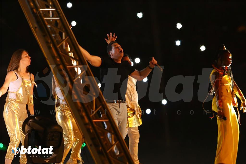 غناء حكيم في حفل افتتاح كاس الامم الافريقية
