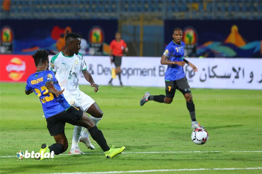جانب من مباراة السنغال وتنزانيا