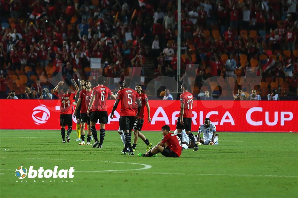جانب من مباراة مصر والكونغو الديمقراطية