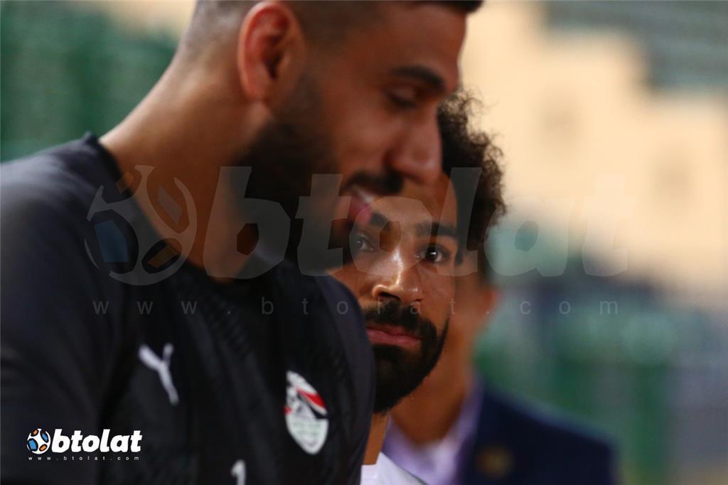 جانب من مران المنتخب المصري قبل مواجهة اوغندا