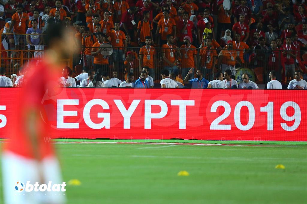 جانب من مباراة مصر وزيمبابوي