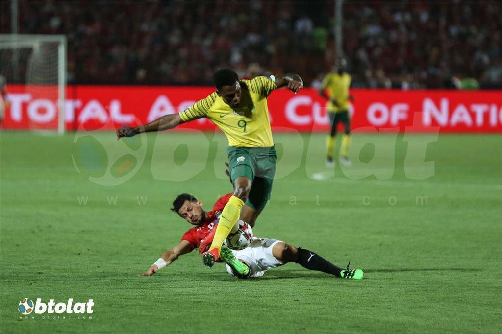 جانب من مباراة مصر وجنوب افريقيا