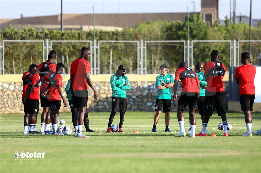 جانب من تدريب لاعبي السنغال