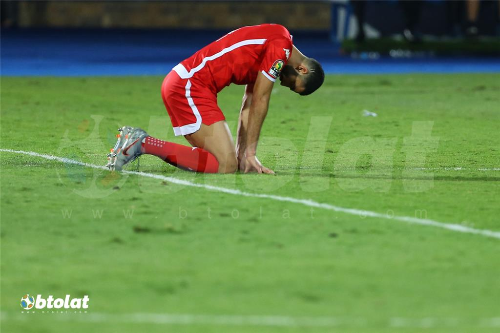 جانب من مباراة تونس والسنغال