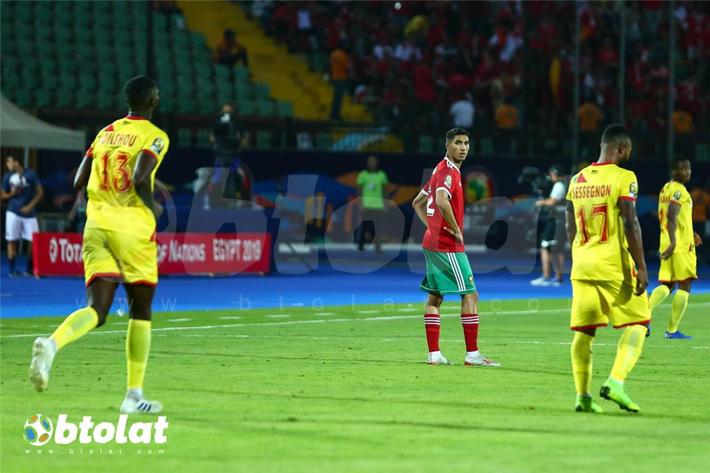 جانب من مباراة المغرب وبنين