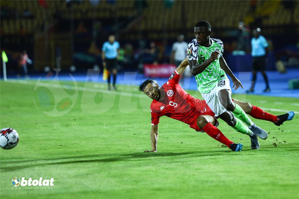 جانب من مباراة تونس ونيجيريا