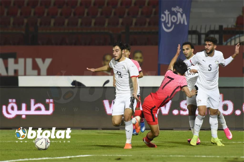 صور مباراة مصر الاوليمبي وكوريا الجنوبية الودية