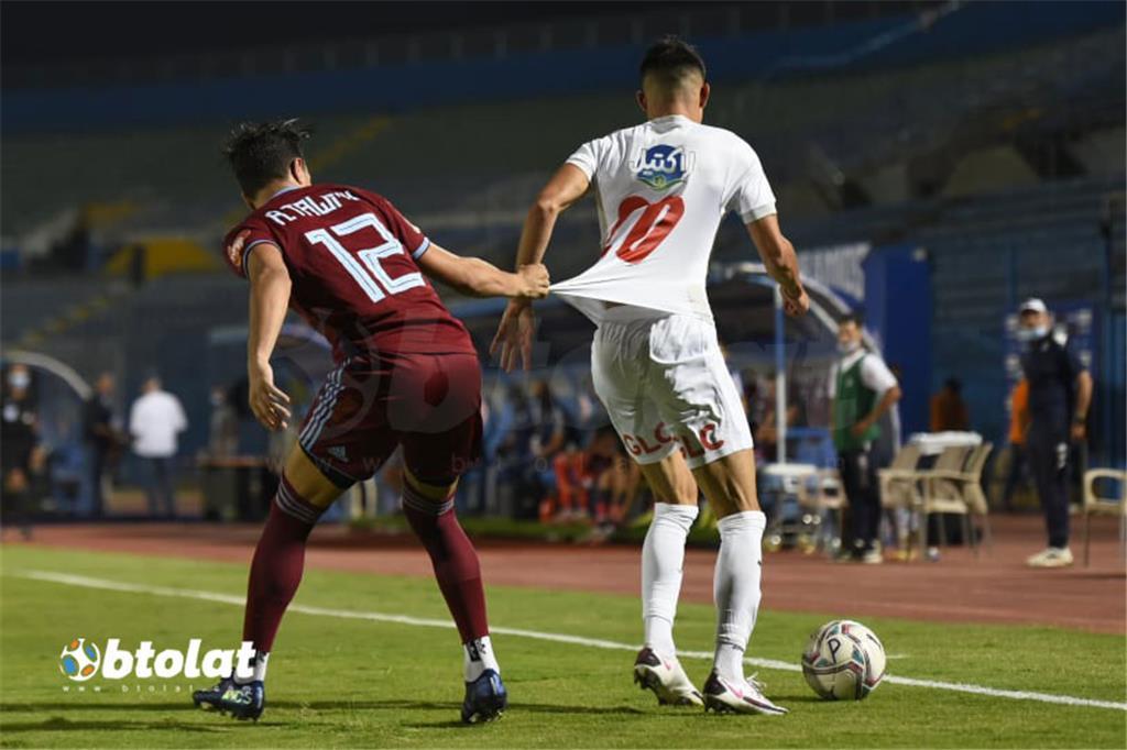 صور مباراة الزمالك وبيراميدز في الدوري المصري