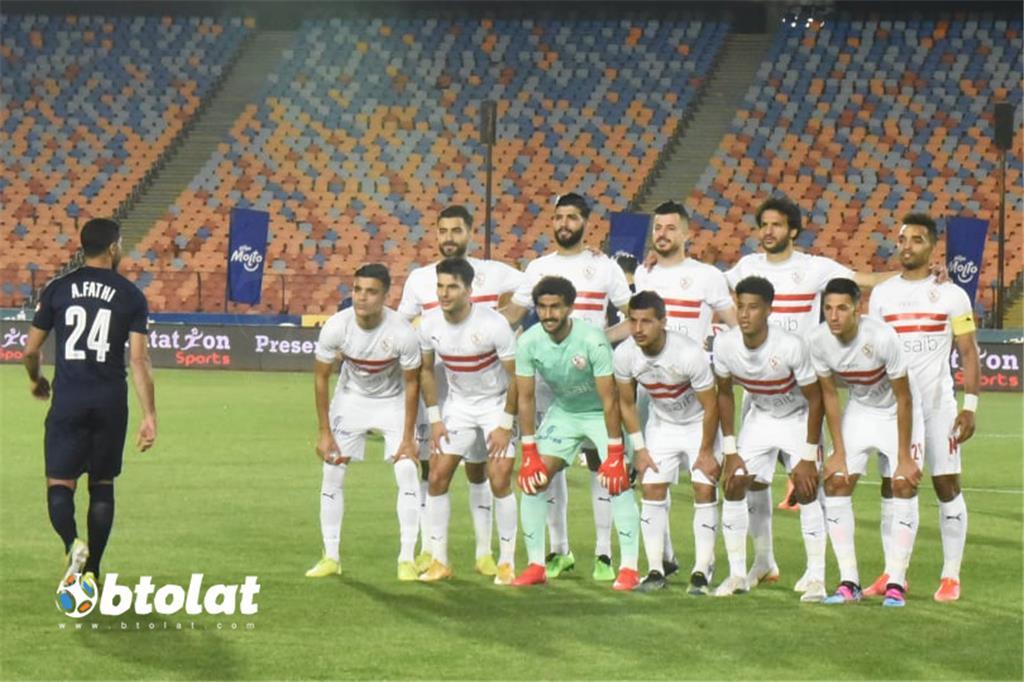 صورة مباراة الزمالك وبيراميدز في الدوري المصري