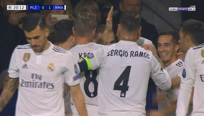 اهداف مباراة ريال مدريد وفيكتوريا بلزن (5-0) دوري ابطال اوروبا