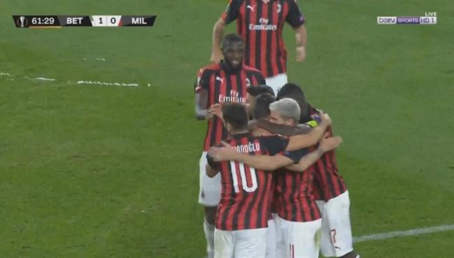 اهداف مباراة ميلان وريال بيتيس (1-1) الدوري الاوروبي