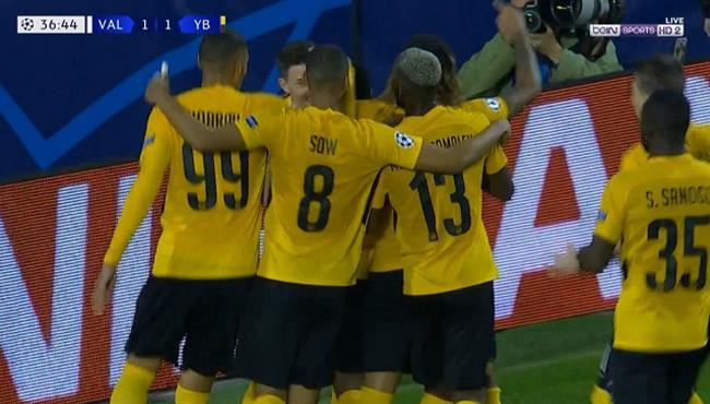 اهداف مباراة فالنسيا ويونج بويز (3-1) دوري ابطال اوروبا